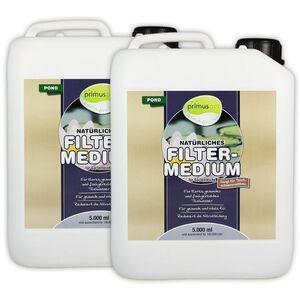 primuspet Natürliches Gartenteich Filtermedium POND (Natürlicher Wasseraufbereiter für kristallklares, gesundes Wasser. Entfernt Mulm und