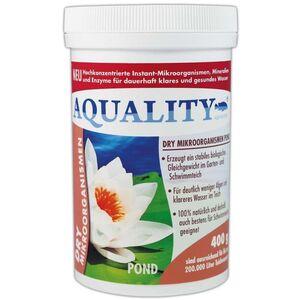 Gartenteich DRY Mikroorganismen (Hochkonzentrierte Instant-Mikroorganismen, Mineralien, Enzyme, Abbau Schadstoffe, 100% natürlich) 400 g - Aquality