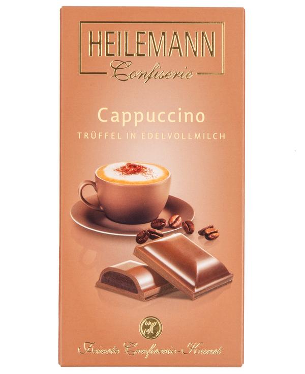Edelvollmilch-Schokolade CAPPUCCINO-TRÜFFEL von Heilemann, 100g