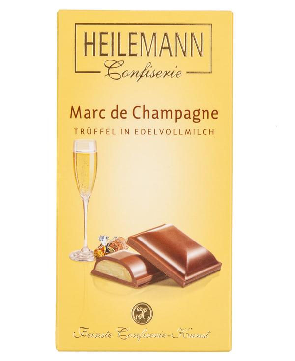 Edelvollmilch-Schokolade MARC DE CHAMPAGNE von Heilemann, 100g