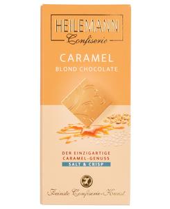 Weiße Schokolade CARAMEL Salt & Crisp von Heilemann, 80g