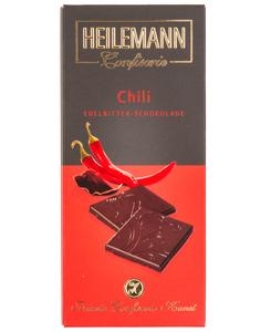 Edelbitter-Schokolade CHILI von Heilemann, 80g