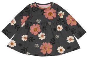 HEMA Baby-Kleid, Blumen Grau