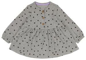 HEMA Baby-Kleid, Gerippt, Punkte Eierschalenfarben
