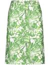 Bild 2 von Rock mit Blumenmuster Grün 48/XL