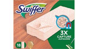 Swiffer Bodenwischer Trockene Bodentücher Nachfüllpackung für Holz & Parkett – 18 St.
