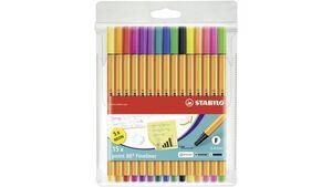 STABILO® Fineliner - STABILO point 88 - 15er Pack - Standardfarben