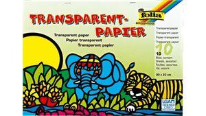 folia Transparenpapier-Heft 10 Blatt farblich sortiert