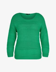 MY OWN - Strick-Pullover im Mustermix, reine Baumwolle