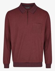 Bexleys man - Langarm-Poloshirt in Jacquard-Twotone-Struktur