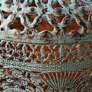 Bild 2 von Metall-Laterne Oriental 18x25cm Antik-Grün