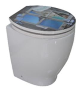 Duroplast WC-Sitz mit Acrylbeschichtung Auszeit