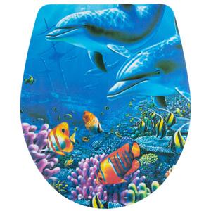 badkomfort WC-Sitz Slim, Delfine