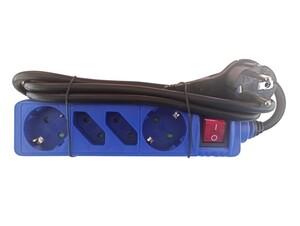 "Powertec Electric 4-fach Steckdosenleiste ""Color Line"", Blau"