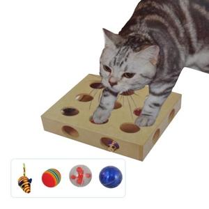 Katzen-Spielkasten mit 4 Spielfiguren