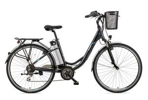 Telefunken Damen City E-Bike RC860 Multitalent mit 7-Gang Shimano Kettenschaltung Anthrazit