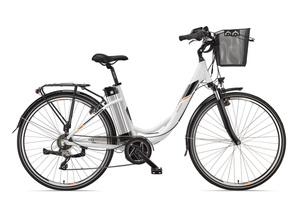 Telefunken Damen City E-Bike RC860 Multitalent mit 7-Gang Shimano Kettenschaltung Weiß