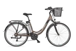 Telefunken Damen City E-Bike RC860 Multitalent mit 7-Gang Shimano Kettenschaltung Umbra-Light-Metall