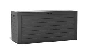 Protanic Auflagenbox in Holzoptik, ca. 116 x 43,8 x 55 cm - Anthrazit