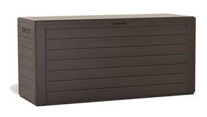 Protanic Auflagenbox in Holzoptik, ca. 116 x 43,8 x 55 cm - Dunkelbraun