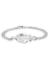 Elli Armband Anker Zirkonia 925 Sterling Silber