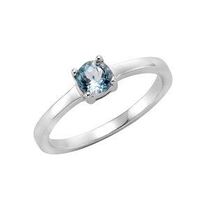 Zeeme Fingerring 925 Sterling Silber Blautopas, Ring