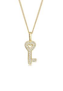 Diamore Collierkettchen Schlüssel Elegant Diamant (0.1 ct.) 585 Gelbgold