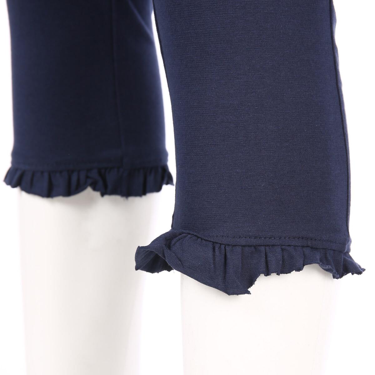 Bild 3 von Damen Capri Leggings mit Rüschenabschluss