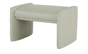 Lederhocker - grau - 71 cm - 42 cm - 51 cm - Polstermöbel
