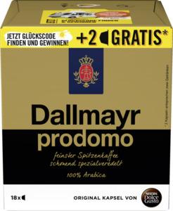 Nescafé Dolce Gusto Dallmayr Prodomo 16+2 Kapseln