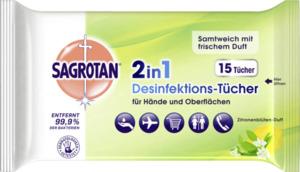Sagrotan 2in1 Desinfektions-Tücher für Hände und Oberflächen