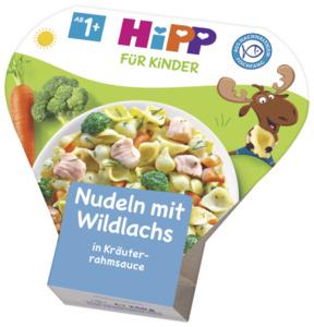 HiPP Nudeln mit Wildlachs in Kräuterrahmsauce, ab 1 Jahr