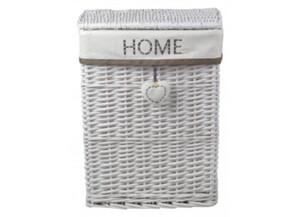 Wäschekorb Home weiß ca. 38x48x28 cm