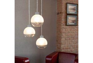 SPOT Light Pendelleuchte »FRESH«, Hängeleuchte, aus echtem Beton - handgefertigt, halbsatinierte Schirme aus Glas, Naturprodukt - Nachhaltig, Passende LM E27/exklusive, Made in Europe