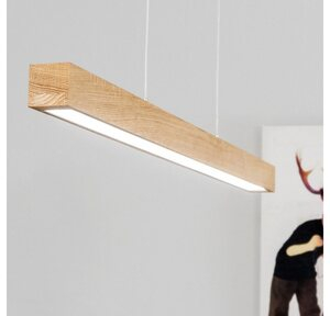 SPOT Light Pendelleuchte »SMAL 2LED«, Hängeleuchte, mit integriertem 24V-LED-Modul, mit Touch Dimmer, aus edlem Eichenholz, Naturprodukt FSC®-zertifiziert, Made in Europe