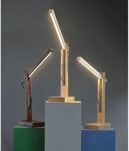 SPOT Light Tischleuchte »TUKAN«, mit integriertem 24V-LED-Modul, mit Touch Dimmer, aus edlem Eichenholz, Flexibel, Naturprodukt FSC®-zertifiziert, Made in Europe