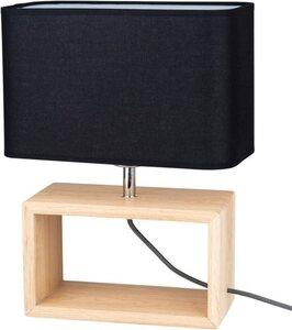 BRITOP LIGHTING Tischleuchte »CADRE«, Zeitlose Leuchte aus Eichenholz, Naturprodukt - nachhaltig, hochwertiger Stoffschirm, Passendes LM E27, Made in EU