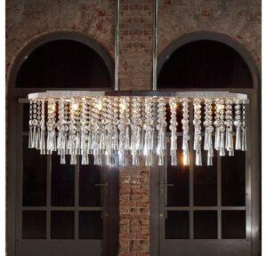 SPOT Light Pendelleuchte »LUXORIA«, Hängeleuchte, Hochwertige Leuchte mit echtem Kristallen, LED-Leuchtmittel inklusive, Zeitlos und elegant.