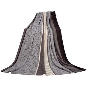 Dreamtex Mikrofaser-Flauschdecke, 150 x 200 cm, grau-creme