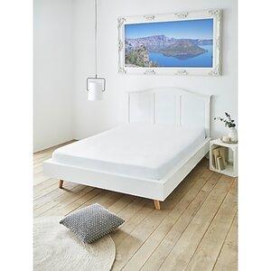 Dekor Spannbetttuch ca. 180x200cm GOTS - versch. Farben - weiß