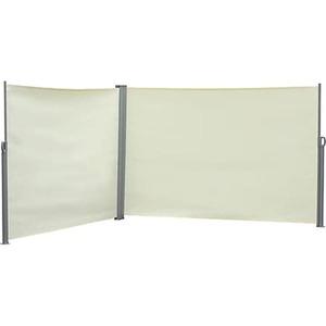 Outsunny Doppel-Seitenmarkise 6 x 1,8 m 600 x 180 cm (LxH)   Sichtschutz Sonnenschutz Seitenrollo Windschutz