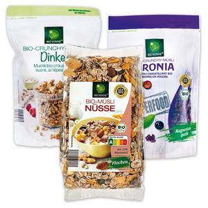 Bio Sonne Bio-Müsli / Crunchy Müsli / Superfood Müsli