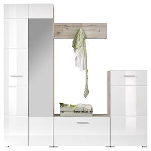 GARDEROBE SIXX B:195 cm Eiche Dekor/Weiß