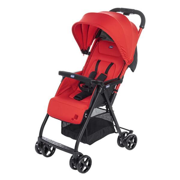 Chicco OHlalà, Leichtgewichtiger Kinderwagen, 36 Monat( e), 1 Sitz(e), Schwarz, Rot, Flach, Feste Räder