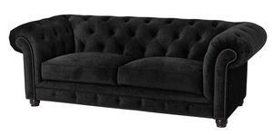 Max Winzer Orleans Sofa 2,5-Sitzer - Farbe: schwarz - Maße: 216 cm x 100 cm x 77 cm; 2911-3000-2044140-F07
