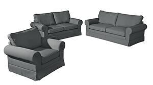 Max Winzer Hillary Sofa 2-Sitzer inkl. Zierkissen - Farbe: anthrazit - Maße: 172 cm x 89 cm x 85 cm; 2890-2100-1645214-KUN