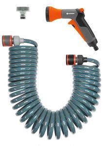 GARDENA Spiralschlauch-Set 10 m, komplett mit Impulsbrause und Systemteilen 04647-20