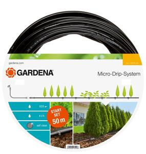 GARDENA Micro-Drip-System Start Set Pflanzreihen L Tropfrohr oberirdisch 13013-20