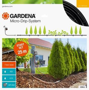 GARDENA Micro-Drip-System Start Set Pflanzreihen M automatic Tropfrohr oberirdisch 13012-20