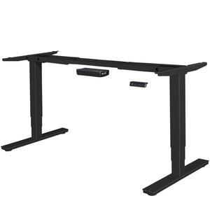 AMSTYLE® elektrisch höhenverstellbares Tischgestell schwarz Gestell mit Memory Funktion   Schreibtischgestell stufenlos höhenverstellbar von 63 - 128 cm